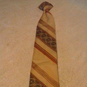 Men's JCPenney Cream/Black/Red Clip On Tie